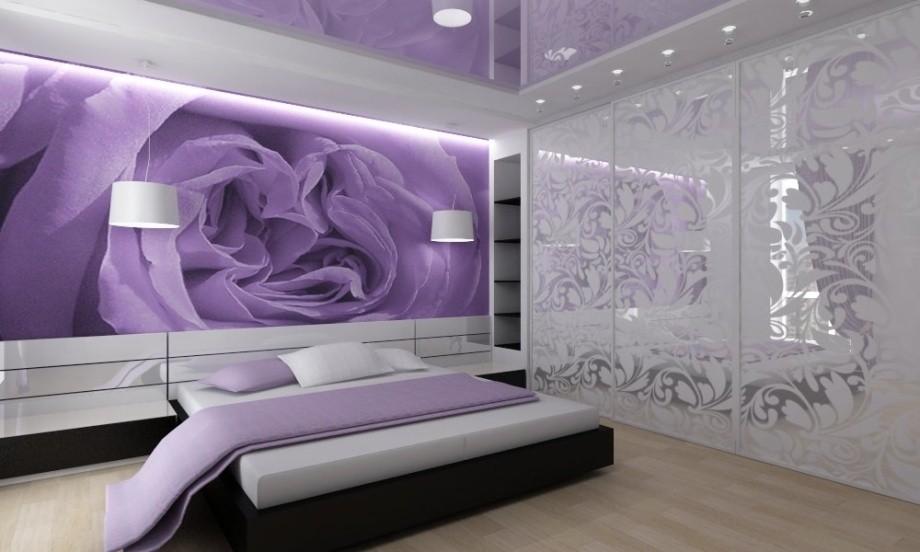 Фиолетовые фотообои