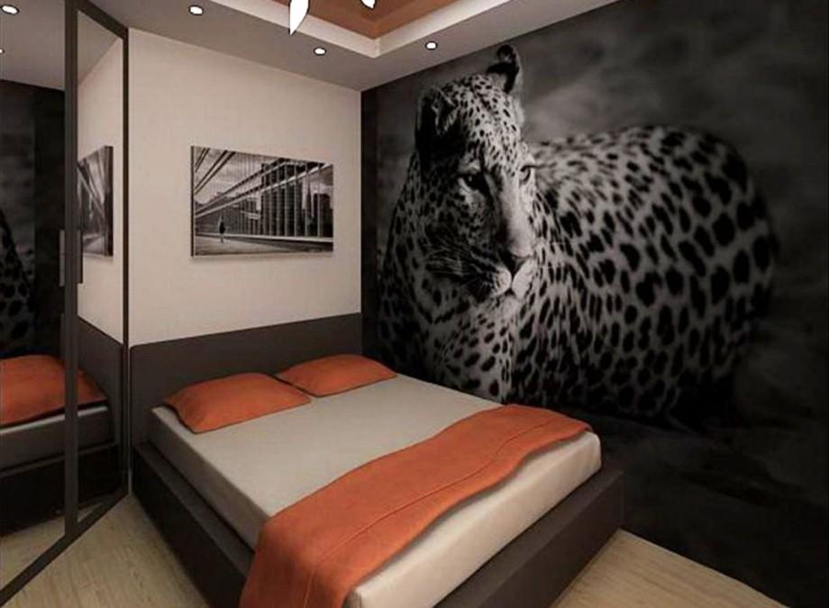 Черные фотообои 3Д для спальни