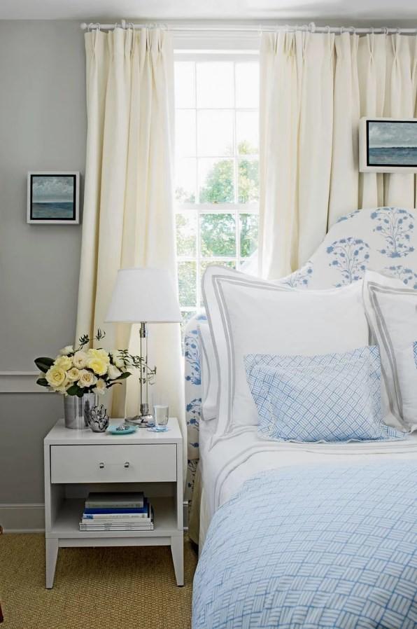 дизайн спальни в синих тона