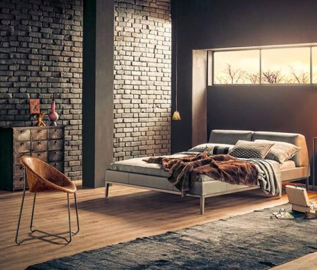 Индустриальный дизайн спальни