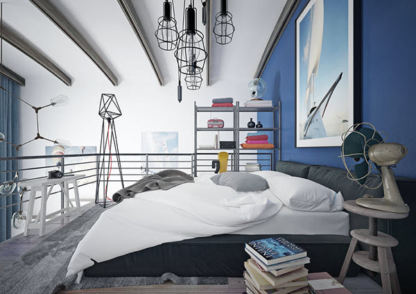 спальня лофт для подростка