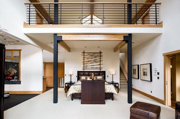 спальня-лофт в современном стиле