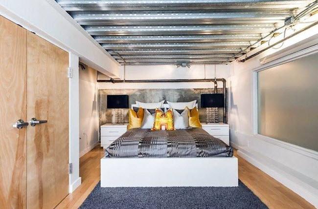 Современная спальня-лофт