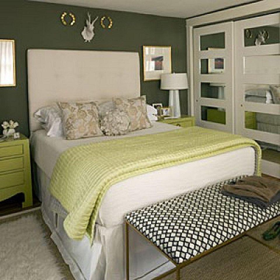 Зеленый в спальне: идеи для декора