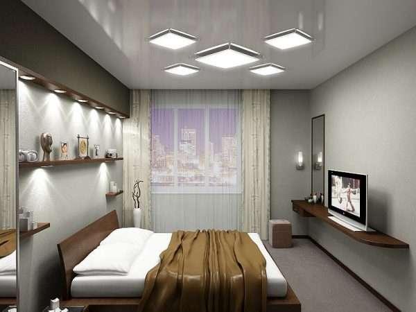 Установка осветительных приборов в спальне