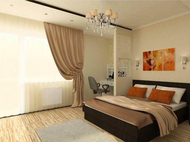 Дизайн спальни 17 кв м: фото идеи