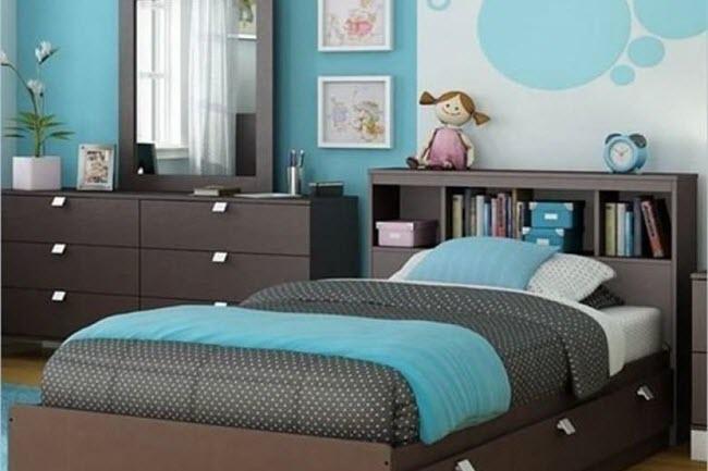 Цвета-компаньоны для коричнево-бирюзовой спальни