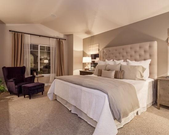 преимуществами бежевого цвета для отделки спальни