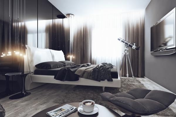 мужская спальня фото дизайн