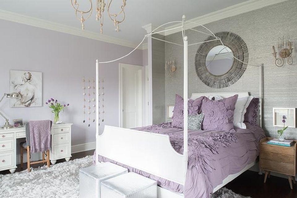 Создайте теплую атмосферу с фиолетовым дизайном спальни