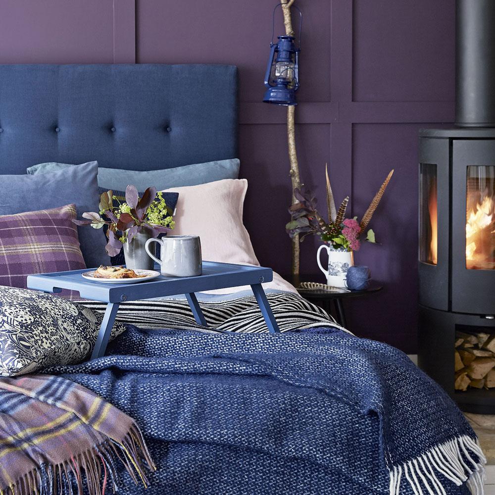 Дизайн маленькой фиолетовой спальни