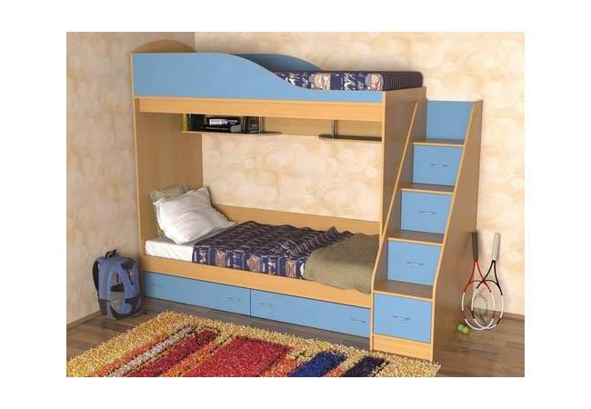 детская спальня двухъярусная кровать