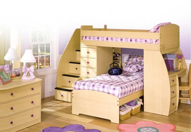 Двухъярусная кровать-чердак с рабочим местом