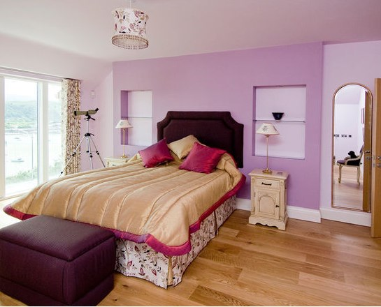 сиреневая спальня фото