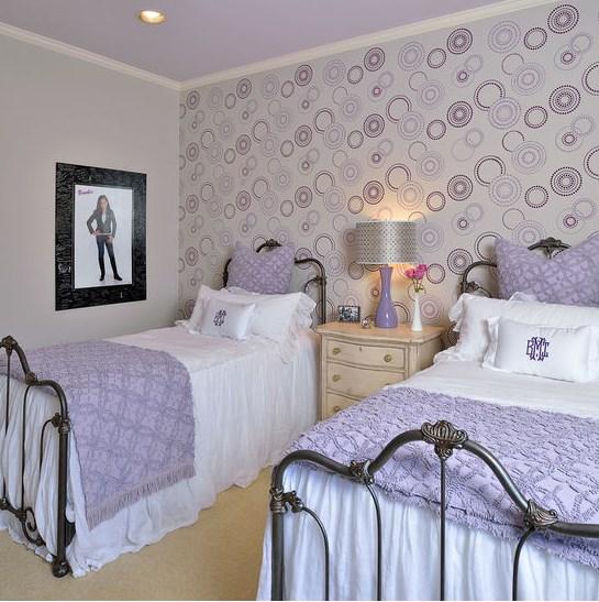 Основные принципы сиреневой спальни