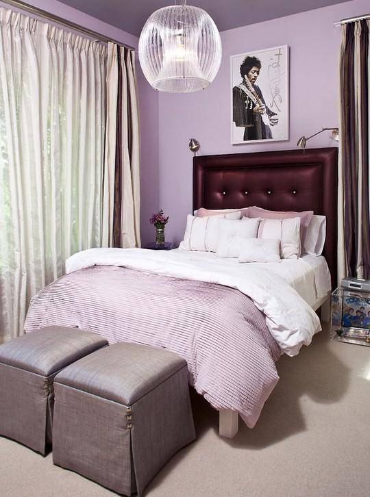 Темно-фиолетовая отделка