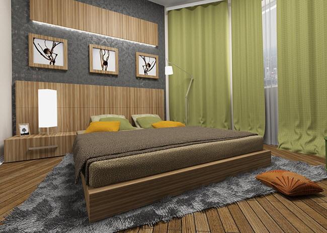 дизайн спальни эко-стиль