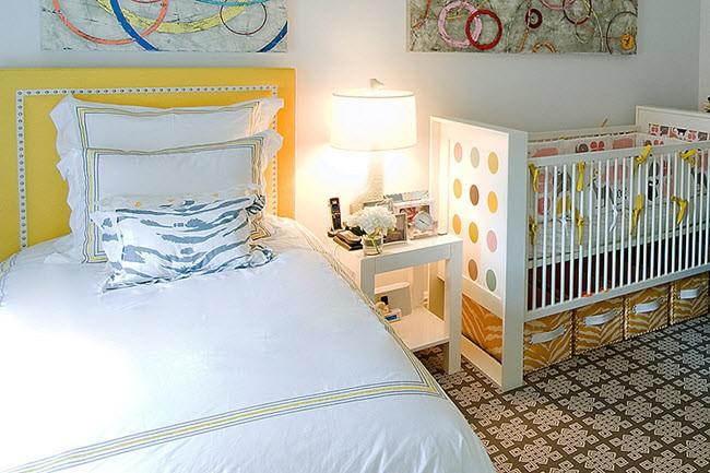 Совмещенная спальня с детской