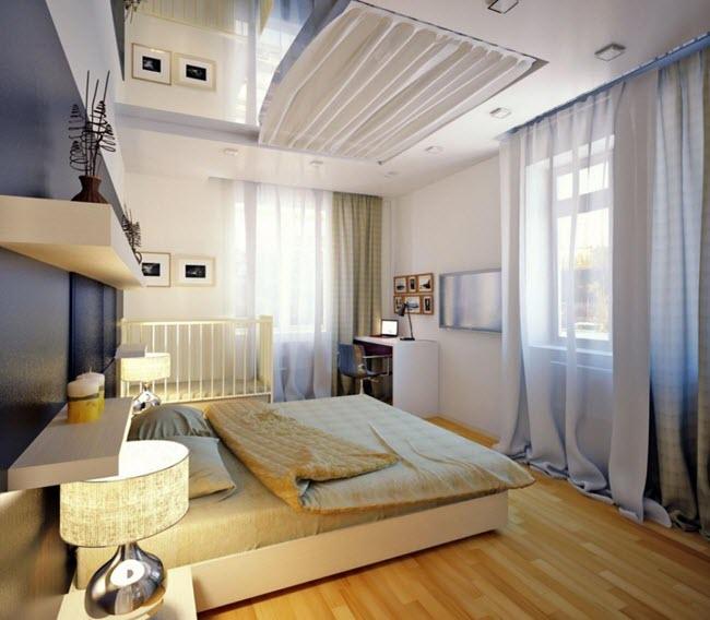 Классический стиль объединенной спальни