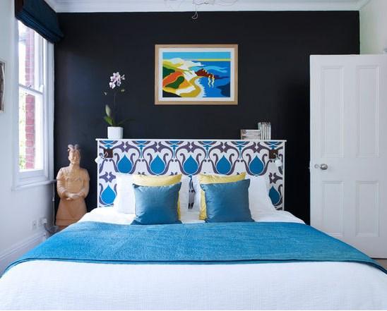 темные оттенки для стен в спальни