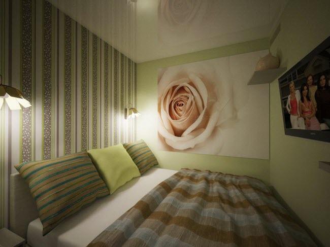 стены и потолок должны быть окрашены в один цвет