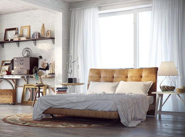 Красивая необычная спальня