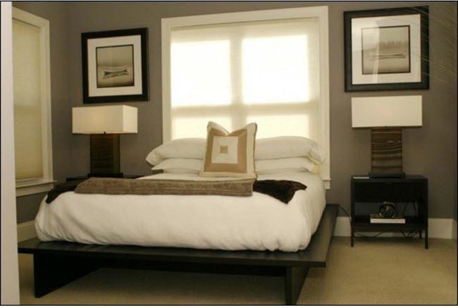 кровать у окна в спальне дизайн 20 фото советов от дизайнеров