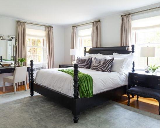 размещение кровати по диагонали