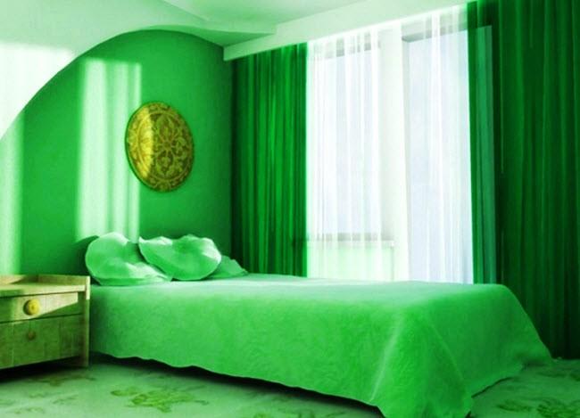шторы зеленого цвета