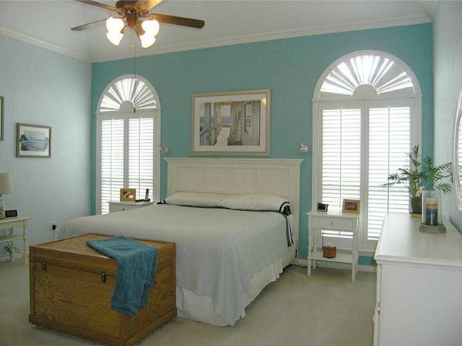 спальня в деревенском стиле США