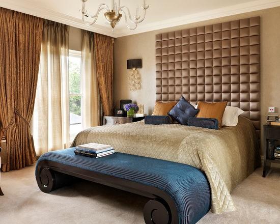 спальня в бежево-коричневых тонах