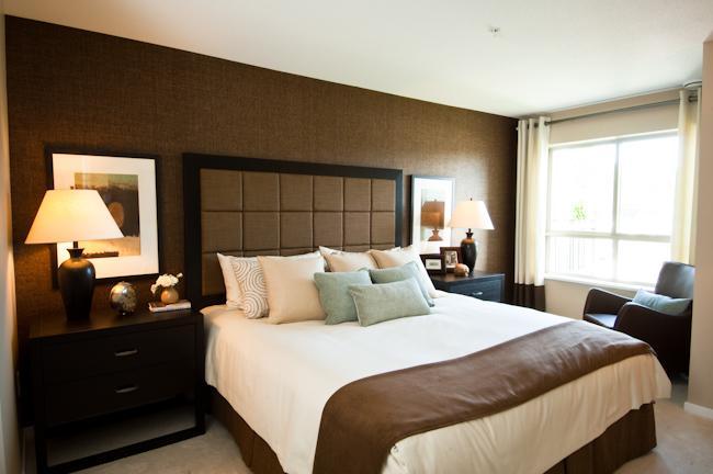 Роль коричневого в спальне