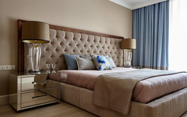бежево-коричневая спальня