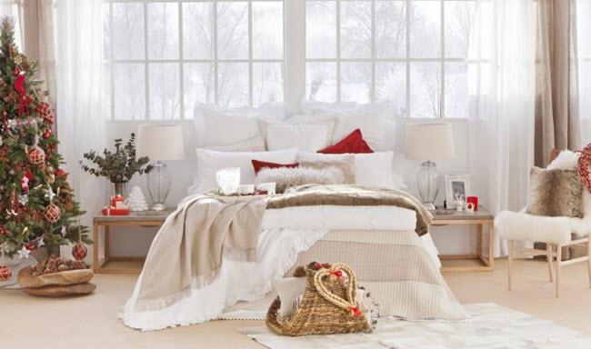 дизайн спальни на новый год
