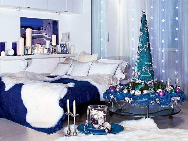 спальни в холодных тонах