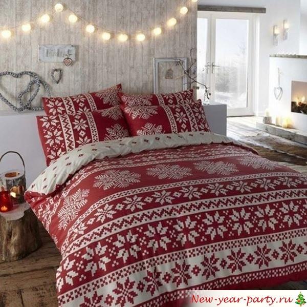 спальню в стиле кантри