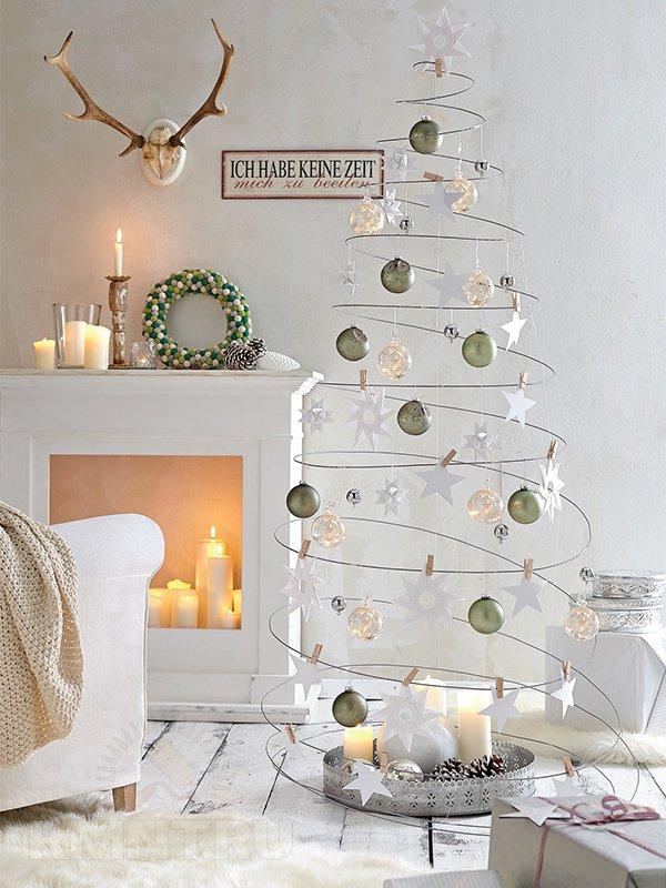 Использование свечей в новогоднем освещении
