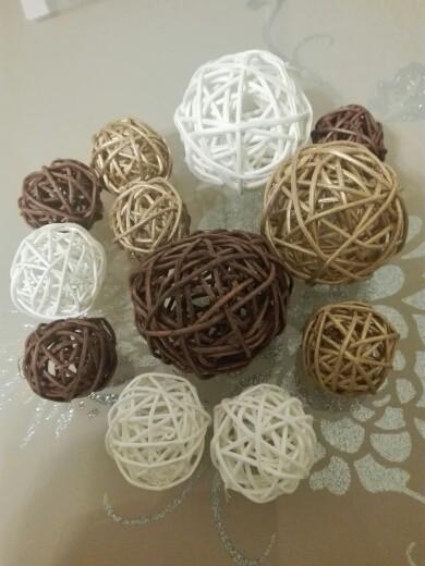 плетеные шары из ротанга