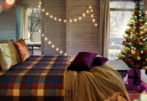Натуральные элементы в декоре спальни