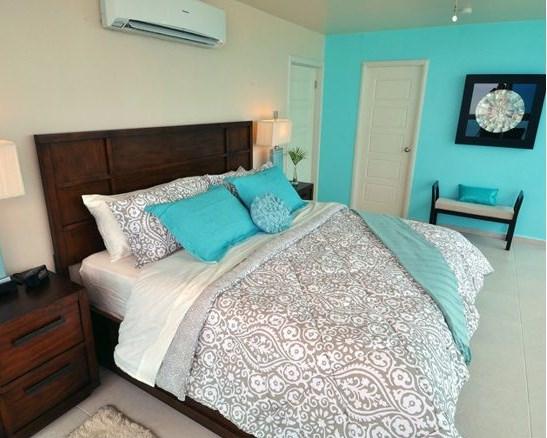 бирюзовые спални