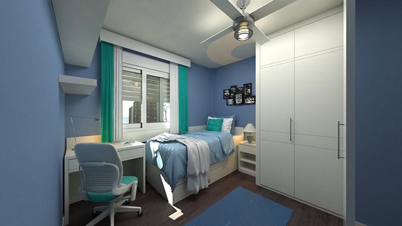 дизайн узкой спальни в хрущевке фото