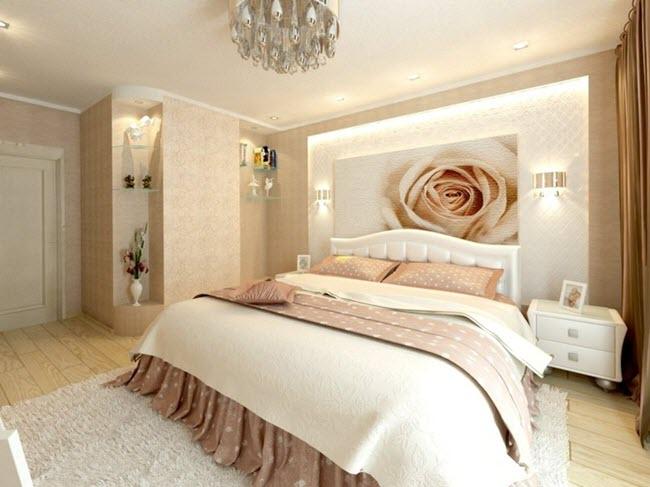 Спальня в сдержанных тонах