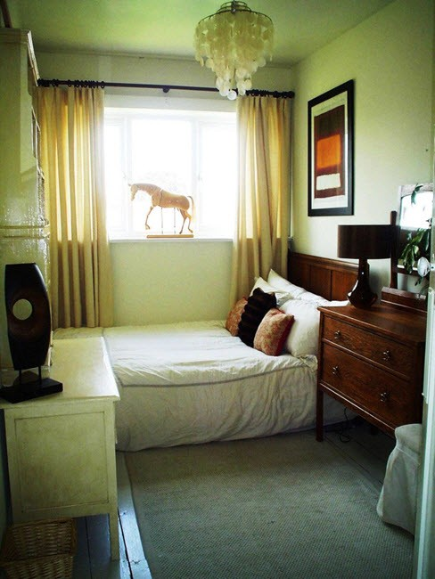 обустройства узкой спальни