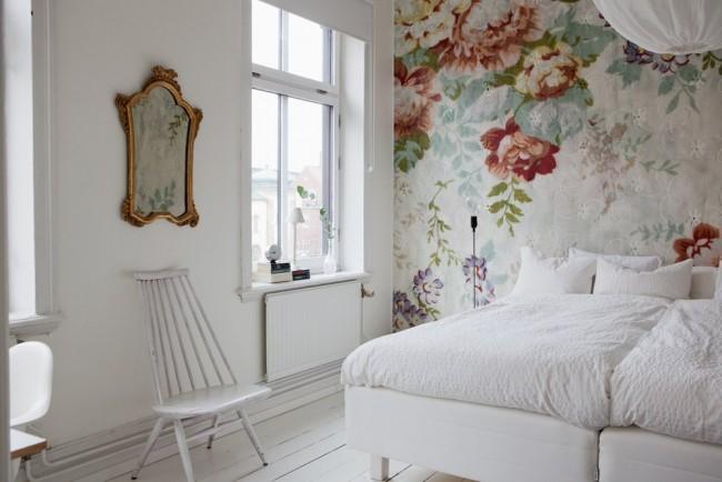 комфортабельная обстановка в спальне