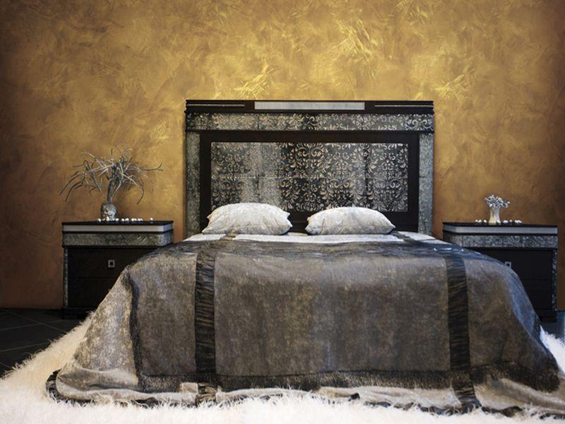 Декоративная штукатурка в спальнe