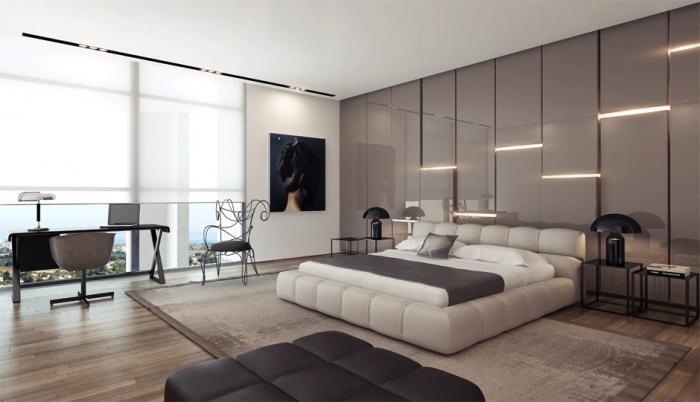 мягкие панели на стену в спальню
