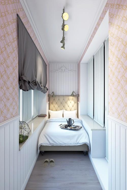 основные требования к обустройству спальни на балконе