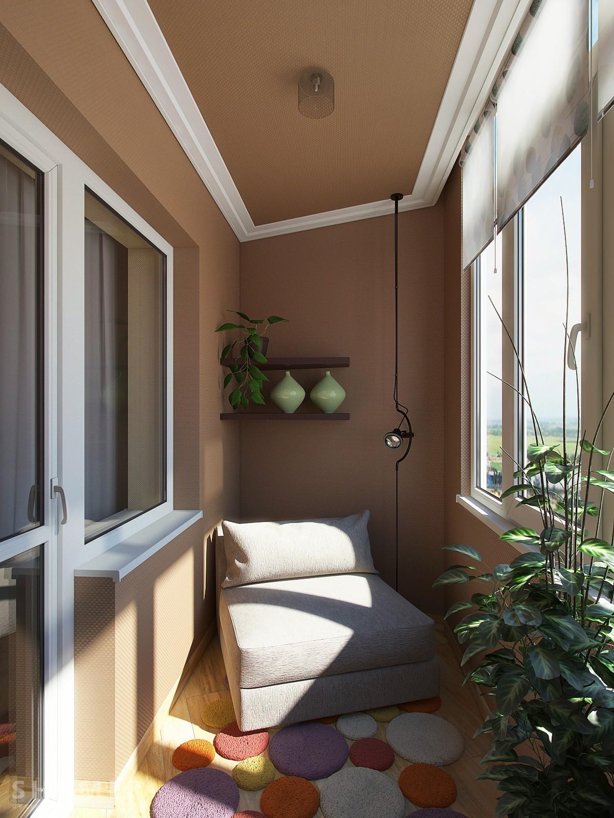 Спальное место на балконе дизайн фото
