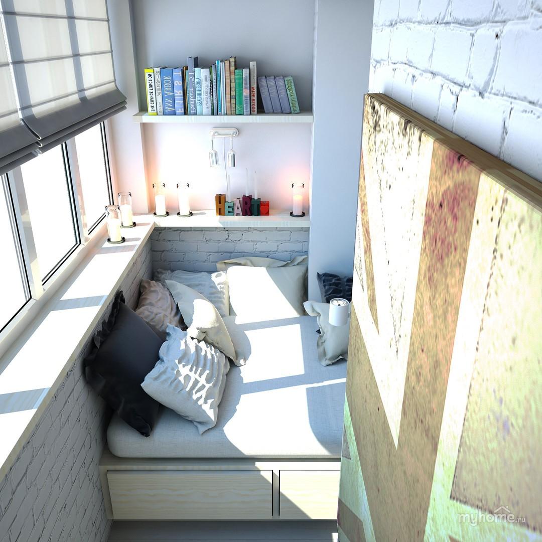 обустраивать спальное место на балконе