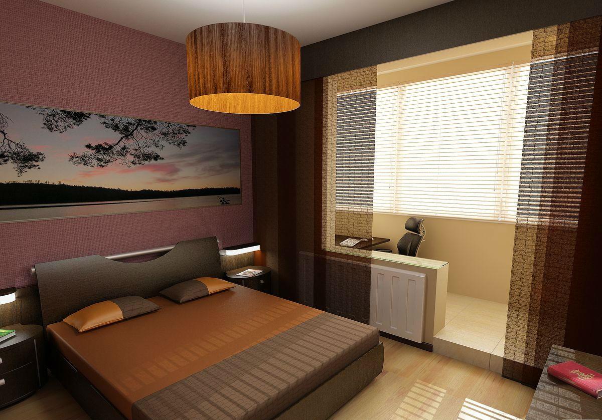 Спальня с балконом дизайн фото